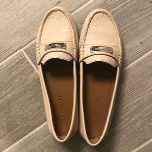COACH Fredrica Pebbled Leather Loafers